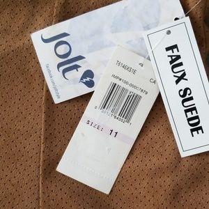 Jolt Skirts - Jolt Faux Suede Skirt